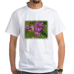 New England Aster White T-Shirt