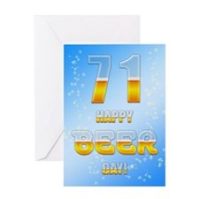 71st birthday beer Greeting Card