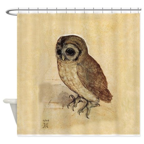 owl by durer shower curtain by ralley