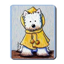 Rainy Day Westie Mousepad