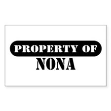 Property of Nona Rectangle Decal