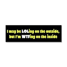 LOLing On The Outside Car Magnet 10 x 3