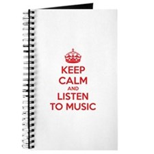 Keep Calm And Listen To Music Journal