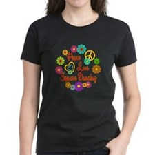 Peace Love Square Dancing Tee