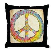 Tie-Dye Peace 713 Throw Pillow