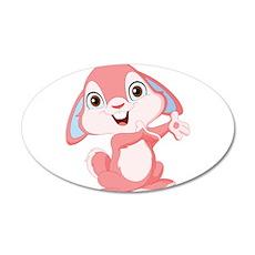 Pink Cartoon Rabbit Wall Decal