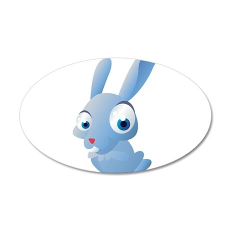 Blue Cartoon Rabbit Wall Decal