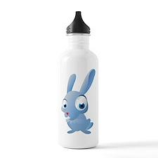 Blue Cartoon Rabbit Water Bottle