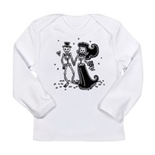 Skeleton Bride And Groom Long Sleeve Infant T-Shir