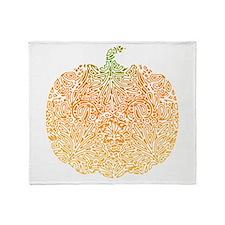 Pumpkin Pattern Throw Blanket