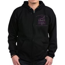 Haunted Home Happy Home Zip Hoodie