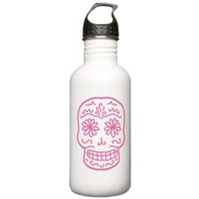 Pink Sugar Skull Water Bottle