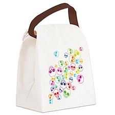 Jumble Of Sugar Skulls Canvas Lunch Bag