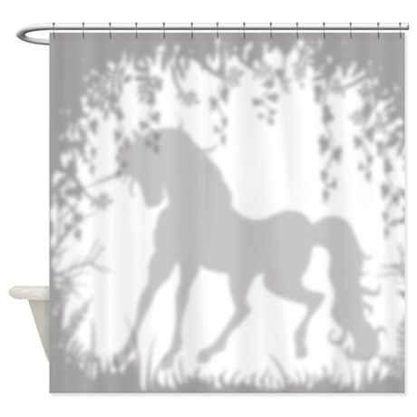 Unicorn In The Garden Shower Curtain