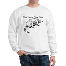 Custom Armadillo Sketch Sweatshirt