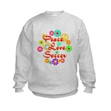 Peace Love Soccer Sweatshirt