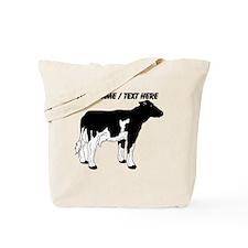 Custom Cow Sketch Tote Bag