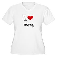 I love Yelping Plus Size T-Shirt