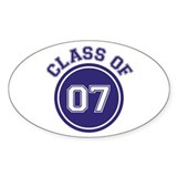 Class of 07 Oval Decal