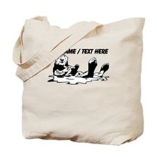 Custom Sea Otter Sketch Tote Bag