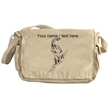 Custom Mountain Goat Sketch Messenger Bag