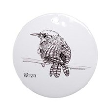 Wren Ornament (Round)