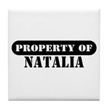 Property of Natalia Tile Coaster