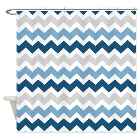 Blue And Orange Shower Curtain Black and White Chevron Curtains