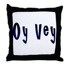 Oy Vey Yiddish Throw Pillow