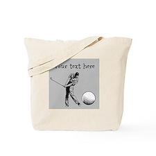 Customizable Golfer and Golf Ball Tote Bag