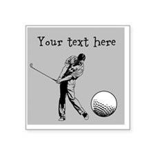 Customizable Golfer and Golf Ball Sticker