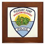 Pleasant Point Police Framed Tile