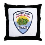 Pleasant Point Police Throw Pillow