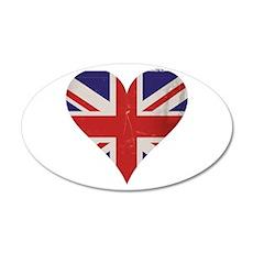 UK Heart Wall Decal
