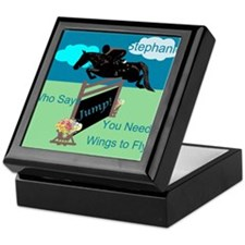 Fun Grand Prix Horse Jumper Keepsake Box