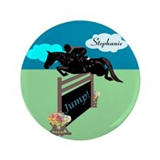 "Fun Grand Prix Horse Jumper 3.5"" Button (100 pack)"