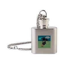 Fun Grand Prix Horse Jumper Flask Necklace