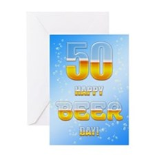 50th birthday beer Greeting Card