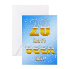 28th birthday beer Greeting Card