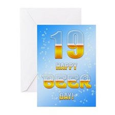 19th birthday beer Greeting Cards (Pk of 20)
