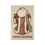 """Vintage Santa"" Rectangle Magnet (100 pack)"