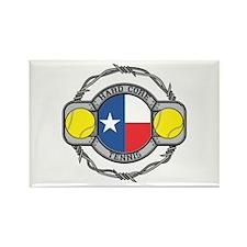 Texas Tennis Rectangle Magnet