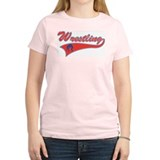 Retro Wrestling Women's Pink T-Shirt