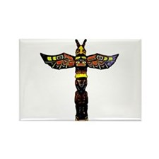 Tribal Totem Pole Rectangle Magnet