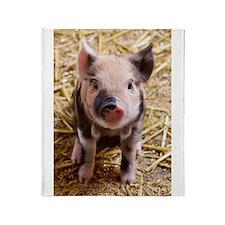 This Little Piggy Throw Blanket