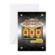 Birthday Greeting Card Casino Theme Wit (Pk of 20)