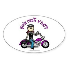 Light Biker Oval Decal