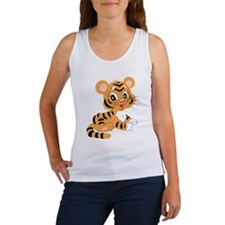 Cute Cartoon Baby Tiger Tank Top