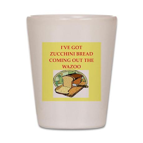 zucchini bread Shot Glass