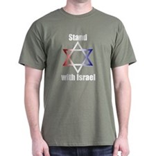 Stand with Israel Green T-Shirt